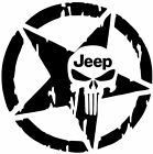 STAR Jeep Punisher Skull Decal
