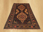 Beautiful Hand Knotted Vintage Afghan Zakani Balouch Wool Area Rug 7 x 4 FT