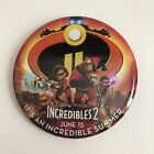 Incredibles 2 Movie Poster Button Pin Disney World Theme Parks NEW