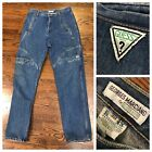 Vintage 90s MENS 38 X 34 GUESS CARGO JEANS GEORGES MARCIANO
