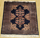 Authentic Hand Knotted Jaldar Pak Jhaldar Wool Area Rug 3 x 3 FT (3524)