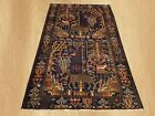 Authentic Hand Knotted Afghan Aksi Balouch pictorial Wool Area Rug 7x 4 (5221)