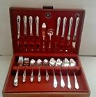 G.H. Rogers 1941 PENDANT Silver Plate 52 Pc Flatware Set w Chest - Estate