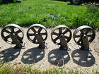 Vintage Industrial metal/steel Cart Caster Wheel 7 1/2 inches Patina Set Of 4