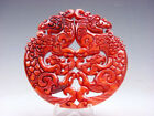 Old Nephrite Jade 2 Sides Carved LARGE Pendant 2 Phoenix 2 Baby Phoenix #091718