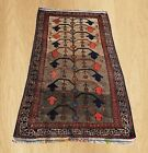 Authentic Hand Knotted Vintage Afghan Balouch Wool Area Rug 5 x 3  Ft (5309)
