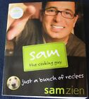 Sam the Cooking Guy Just a Bunch of Recipes SIGNED Sam Zien 2008 TV Celeb