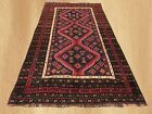 Authentic Hand Knotted Vintage Afghan Balouch Wool Area Rug 10 x 5 Ft (5717)