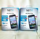 x2 Net10 Wireless Tracfone ZTE Scend 4G National GSM  Smartphon Brand New Sealed