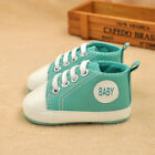 Infant Toddler Baby Soft Sole Crib Canvas Shoes Sneaker Grass Green Size 12
