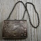 Repousse Sterling Silver Purse Evening Flowers Chain Wallet 118 Grams