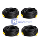 Premium RCA 100 FT Cable Digital Coaxial Audio Video Subwoofer Cord PACK of 4
