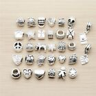 32 PCS Vintage Silver Beads Mixed Random Pandor Charms Fashion Jewelry for Girl