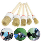 Wash Auto Care Interior Soft Bristle Car Brush Auto Detailing Wood Handle Tool