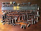 LOT of 60 hollow open-barrel SKELETON keys ANTIQUE vintage SMALL