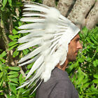 CLEARANCE PRICE Native American Indian Style Feather Headdress All White Duck