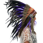 CLEARANCE PRICE Native American Indian Style Feather Headdress Purple Rooster
