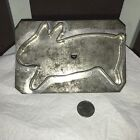Large antique soldered Tin Primitive  Rabbit Cookie Cutter.#2