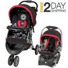 Baby Stroller Car Seat w Base Travel System Infant Girl Carriage Canopy 3in1 Set