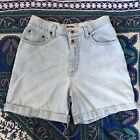 Vintage 90s Sonoma Light Wash High Waisted Rise Cuffed Denim Jean Shorts Size 28