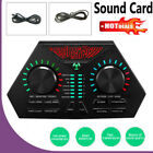 Audio External USB Headset 7 Kinds Microphone Sound Card For Phone Computer