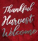 Metal Art Inspirational Lettering Words Decor Harvest Welcome Thankful Wreath