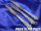 PATTERN STERLING SILVER STEAK KNIFE - VERY GOOD CONDITION