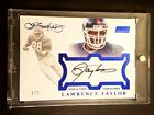 LAWRENCE TAYLOR 2017 Flawless Now & Then SSP AUTOGRAPH #1 5 1 1 On Card AUTO
