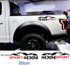 High Quality4X4 Mountain SPORT Letter Car Sticker Decal Black+Red For Truck JEEP
