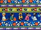 MLiss Pets Sports Fabric Cats Cotton Various Sports Sport Themed I love sports