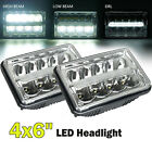 4x6 LED DRL Headlight For Chevrolet S10 Monte Carlo Nova R10 Monza Nova 2X