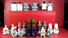 Lot of 22 Vintage Salt  Pepper Shakers Various Makes Materials  Condition