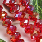 Hot Sale 6mm 49pcs Crystal Rondelle Bicone Faceted Jwelry Beads AB Red Beads