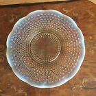 Vintage Anchor Hocking Moonstone Glass Round Sandwich Plate