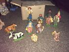 Vintage Nativity Set Made In Italy 10 pc setbox reads Presepio Nativity Creche