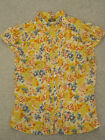 yellow red blue floral blouse size 8 Fei anthropologie brand