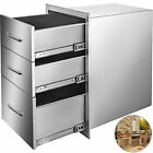 Outdoor Kitchen Drawer 18X23 Stainless Steel Narrow Trash Drawer BBQ Grill
