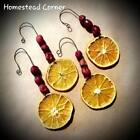 Dried Cranberry Orange Christmas Ornaments ~ Rustic Country Farmhouse ~PRIMITIVE