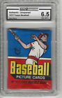 1977 TOPPS BASEBALL WAX PACK, UNOPENED, GRADED BY GLOBAL AUTHORITY 6.5 EX-MT+