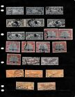 UNITED STATES NICE VINTAGE AIRMAIL STAMP LOT DISPLAYED ON 3 SHEETS