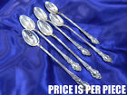 WATSON MEADOW ROSE STERLING SILVER ICED TEA SPOON - NEARLY NEW CONDITION