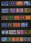 King George VI eight key sets unmounted mint condition except for one stamp