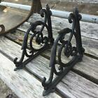 2 X ORNAMENTAL SHELF BRACKET BRACE Vintage Rustic Antique Brown Cast Iron CJ002