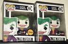 FUNKO POP! DC SUPERHEROES GAMESTOP EXCLUSIVES JOKER METALLIC CHASE SET BATMAN