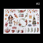 Elksnowmansanta Claus Christmas Uncut Stickers Craft Diary Album Xmas Newly