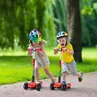 Scooters for Kids 4 Adjustable Height 3 Wheels Stable Kick Scooters for kids PU