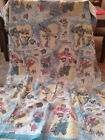 VINTAGE TRANSFORMERS BLANKET BED COVER 72X93
