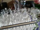 Vintage Anchor Hocking Clear Glass Boopie juice glasses ~10~ 1950-1970's~ 3 7/8