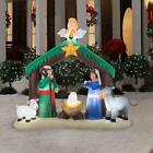 NIB 6x7 Lighted Inflatable Christmas Nativity w Angel Airblown Scene Yard Deco
