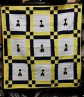 RARE Native American Patchwork Baby Indian Boy Quilt Crib Blanket HandMade 51x48